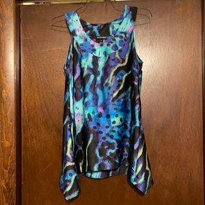 Blue print dress Fashion Bug top